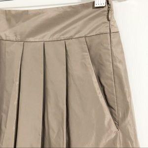Ann Taylor Skirts - Ann Taylor Pleated Taffeta Skirt Lined